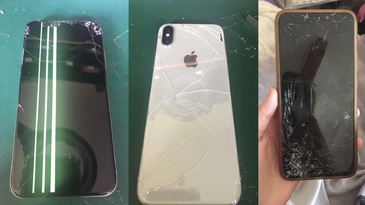iPhone XR badly damaged front and back